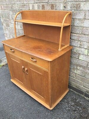 Vintage Compact Oak Priory 3ft Sideboard Cabinet Dresser Ercol Style