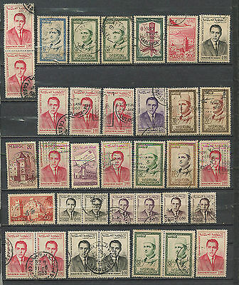 Morocco 1950s used accumulation 200+ stamps