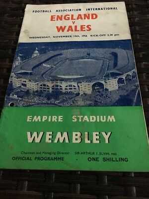 England V Wales 14th Nov 1956