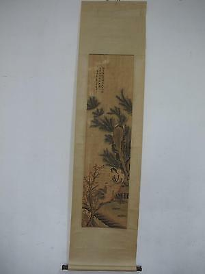 China old Hang Paintings Scrolls Hand Painted Figure landscape verse Ni Tian