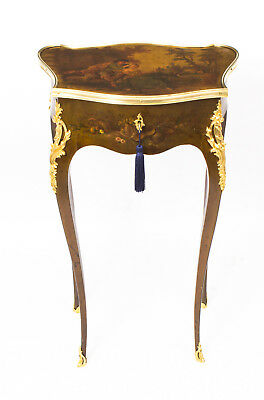 Antique French Vernis Martin Serpentine Side Occasional Table C1870
