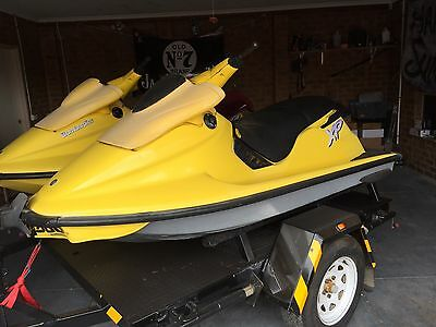 2 1998 Seadoo Jet Skis with Trailer