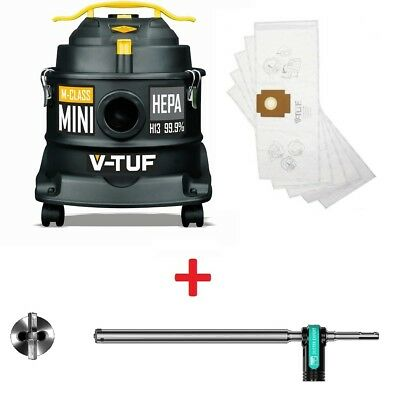 V-TUF M Class Rated 240V Dust Extractor Hoover Vacuum + Heller SDS+ Drill Bit