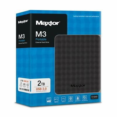 Maxtor Seagate M3 2TB Mobile External Hard External Black USB Portable 2 TB HDD
