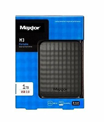 Maxtor Seagate M3 1TB Mobile External Hard External Black USB Portable 1 TB HDD