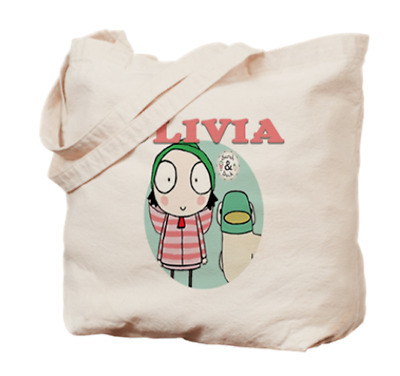 Sarah and Duck Tote Bag Book Dance Personalized Name Girls Childs Gift Fan