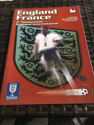 England V France Friendly 10th Feb 1999