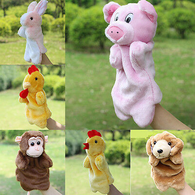 Animal Hand Puppet Toys Plush Puppets Development Toy Children Baby Doll Pig 3AA