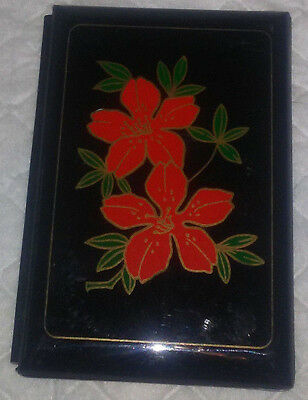 Vintage Lacquerware Cherry Blossom Address Telephone Book in original box