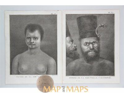 New Caledonia Woman & Man. Voyages James Cook 1778