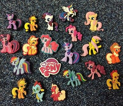 8 X My Little Pony PVC Shoe Charms, Wristbands