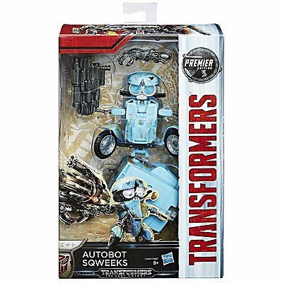 Transformers 5 The Last Knight Autobot Sqweeks Premier Edition Deluxe