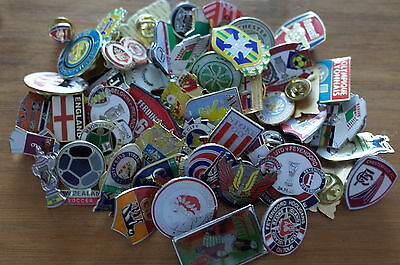 Football   badges collection joblot of 50