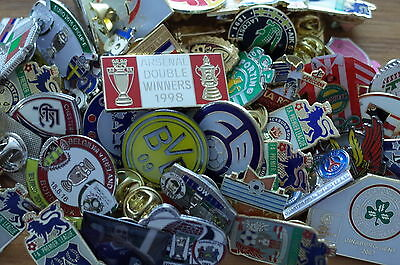 50  Football   badges collection    joblot