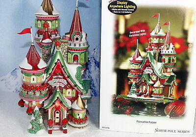 """Department 56 North Pole Series """"Poinsettia Palace"""""""