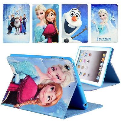 Frozen Cartoon Kids Gift Leather Case Cover For iPad 2 3 4 5 6 7 8 Air Pro Mini