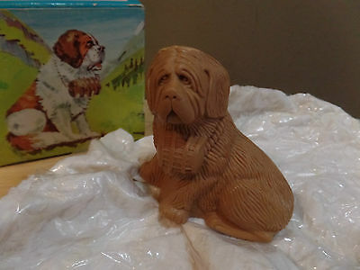 """Vintage """"ST. BERNARD"""" Dog AVON Spicy Molded SOAP-Original WRAPPING and BOX~NEW"""