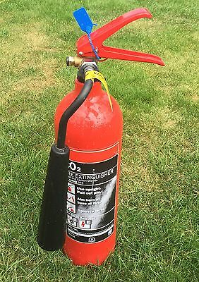 Fully Serviced 2 KG CO2 Fire Extinguishers With Service Labels
