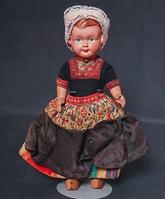 "Vintage 9"" Celluloid Doll Tagged Dovina Holland"