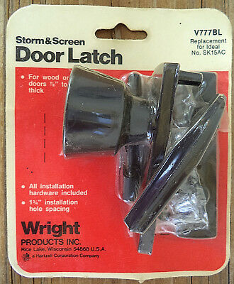 Factory Sealed New Old Stock WRIGHT Storm & Screen Door Latch V777BL Made in USA