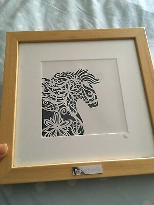 Original Paper Panda 'Carou' Medium framed Papercut