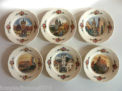Obernai Sarreguemines H Loux  Decor Polychrome 6 Assiettes A Pain/ 01