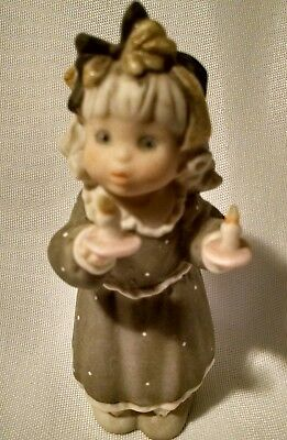 NBM Bayher Figurine 4 inch Figurine Girl Blowing Out Candle 1997 Studio AG