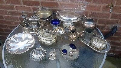 A job lot of 21 vintage silver plated items.7 kgs in weight.job lot 6.