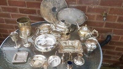 A job lot of 21 vimtage silver plated items.7kgs in weight.job lot number 4.