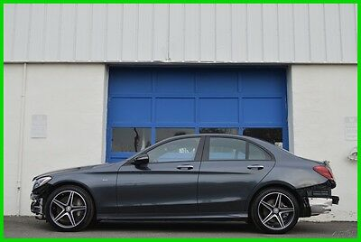 2016 Mercedes-Benz C-Class C450 AMG 4MATIC Burmester Audio Pano Roof L1Ke C43 Repairable Rebuildable Salvage Runs Great Project Builder Fixer Easy Fix Save