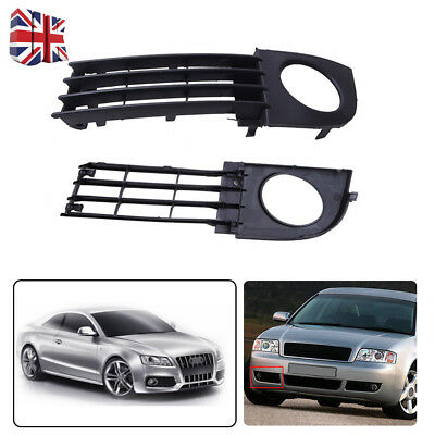 For Audi A6 C5 02-05 Pair Front Lower Bumper Fog Light Surround Grill Grille