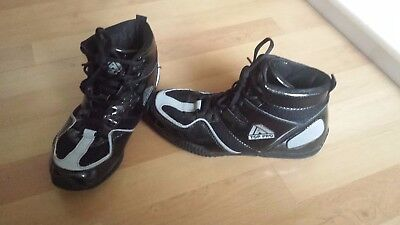 top pro size 4 boxing boots boys black and white