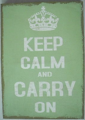 KEEP CALM and CARRY ON - Leinwand auf Holzrahmen ca 70 x 50 cm Deko- Wandbild