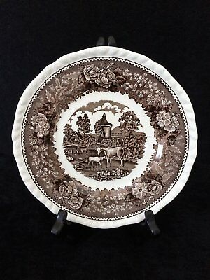 Vintage Adams Real English Ironstone 'English Scenic' Lunch Plate in Brown 6
