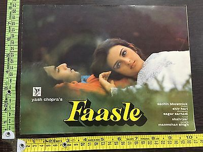 Faasle 1985 Cinema Bollywood Song Book Film Yash Chopra India #14015