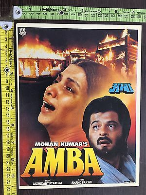 Amba 1990 Cinema Bollywood Booklet Film Actor Anil Kapoor India #14009