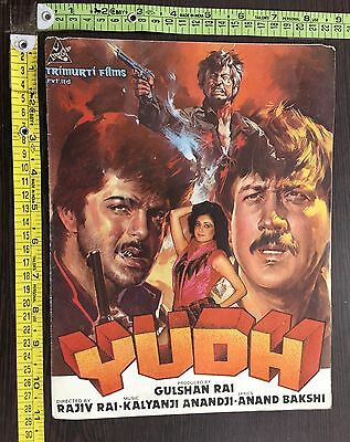 Yudh 1985 Cinema Bollywood Song Booklet Film Anil Kapoor Jacky India #14013
