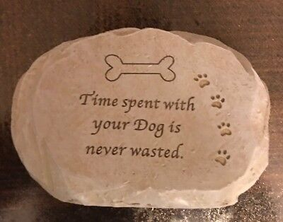 🐩 DOG Pet memorial plaque ornament Time Spent With Dog Is Never Wasted Memory