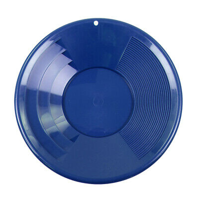 """12"""" BLUE Plastic Gold Pan w/ Shallow & Deep Riffles for Gold Prospecting"""