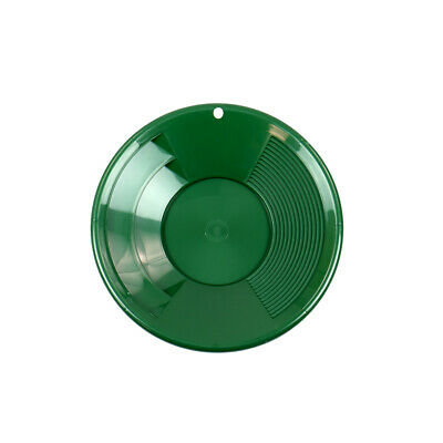 "8"" GREEN Plastic Gold Pan w/ Shallow & Deep Riffles for Gold Prospecting"