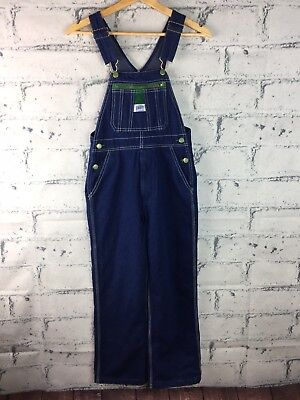 "LIBERTY Youth Bib Overalls Denim Blue Jean ""Youth Size 12"" Boys or Girls"