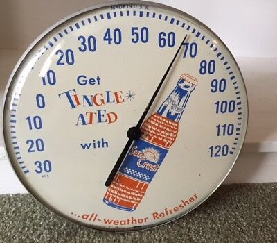 """12"""" Sun Crest Glass Thermometer"""