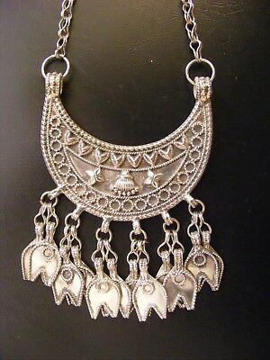 Beautiful SILVER Oman Omani Bedouin Necklace Intricate Design Stunning Sterling