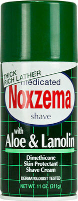 Noxzema Shaving Medicated Shave with Aloe and Lanolin 11 Oz