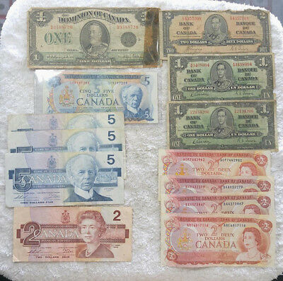 Canada Currency Lot  $35 face - Free Shipping