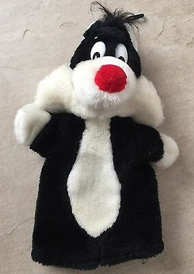 Warner Bros Sylvester Hand Puppet Plush Toy Looney Tunes Vintage 1990