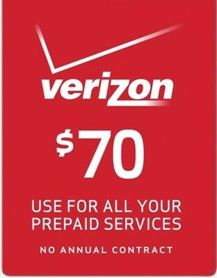 $70 Verizon Prepaid Monthly refill Direct (No Shipping)WE R HERE 7 DAYS .