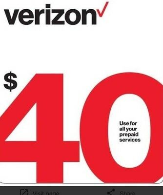 $40 Verizon Prepaid Monthly refill Direct Fastest Refill,7 DAYS Services