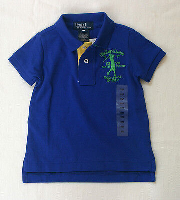 NWT Ralph Lauren Boy's Mesh cotton Polo Shirts/  Short Sleeve / Blue / Size 9M