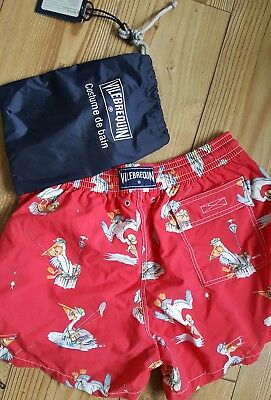 Vilebrequin Fishing Pelican Swim Shorts Xl With Bag